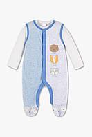 Детский велюровый комплект для мальчика  0-1, 2-3 месяца, фото 1