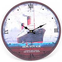 Часы настенные B0136, материал - дерево (МДФ), размер 33.8*33.8*3.5 см, морская тематика, морские сувениры, сувенир