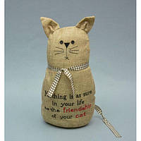 """Стопор напольный для двери """"Кошка"""" DS6006, наполнитель песок 32х18х10 см, дверной ограничитель, ограничитель двери, стопорт дверной, упор для двери"""