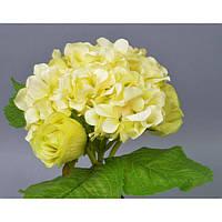 """Композиция цветочная для декора """"Green"""" SUB1247, размер 27х20 см, 2 вида, декоративный цветок, искусственное растение, букет искусственных цветов"""