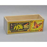 """Ящик деревянный для декора """"Beans"""" FF285, размер 9х26х9 см, ящик декоративный из дерева, коробка деревянная декоративная"""