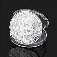 Сувенирная монета Биткоин Silver