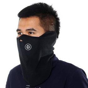 Ветрозащитная маска для лица для исиользования во время езды на велосипеде или занятий спортом на открытом воздухе - Чёрный