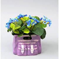 """Композиция цветочная для декора """"Фиалка"""" SU301, размер 14x13 см, в вазоне, 4 вида, декоративный цветок, искусственное растение"""