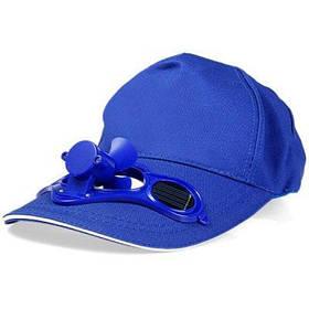 Противосолнечная кепка с мини солнечным вентилятором для летних видов спорта на открытом воздухе велосипедные принадлежности - Синий