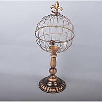 """Подсвечник декоративный для свечей """"Клетка"""" HX3041, металл, 50х20 см, подставка для свечи, подсвечник для декора, декор-подсвечник"""