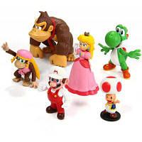 6 шт. мини супер Марио Брос 4см-8см фигурки куклы игрушки Цветной