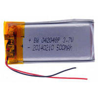 042048P Универсальная замена 3.7V 500mAh Li-полимерная аккумуляторная батарея для мобильного телефона MP3 MP4 Серебристый