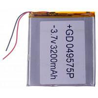 049575P Универсальная замена 3.7V 3200mAh Li-полимерная аккумуляторная батарея для 7-10-дюймового планшетного ПК Серебристый