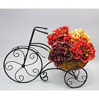 "Вазон - кашпо для цветов ""Bike"" HY106, металл, размер 59х39 см, вазон для комнатных растений, горшок для растений"