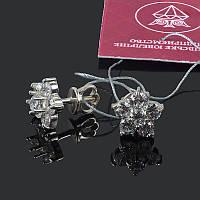 Серебряные серьги гвоздики