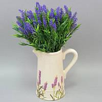 Кувшин для цветов FF006, 25*11*22 см, керамика, большой, Декоративный кувшин, Расписной кувшин, Кувшин для цветов