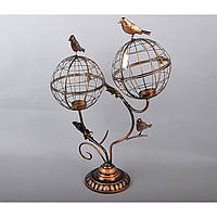 """Подсвечник декоративный для свечей """"Клетка"""" HX3040, металл, 57х40 см, подставка для свечи, подсвечник для декора, декор-подсвечник"""