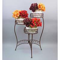 Подставка под цветы HX1027, материал - металл, размер - 70*50*23 см, изделия из ротанга и металла, декор для дома, декор для сада