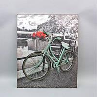 """Декор настенный - панно 3D """"Велосипед"""" HX9110, материал - металл, размер - 59*49 см, настенный декор, декор для дома"""