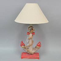 """Торшер настольный для декора """"Якорь"""" PR4012, красный, дерево, 60х35 см, светильник настольный, торшер прикроватный"""