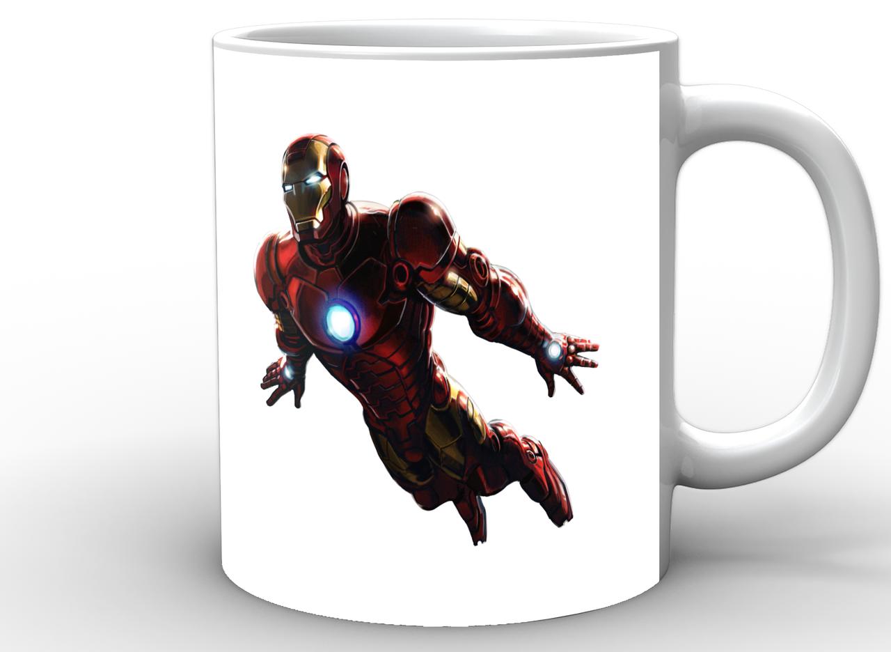 Кружка GeekLand Железный Человек Iron Man минимализм IM.02.006