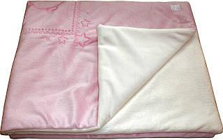 Детский плед в кроватку искусственный мех с вышивкой