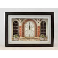 """Годинники настінні для декору """"Палац"""" B801, розмір 40х28х7 см, годинник для будинку, годинник на стіну, годинник домашні"""