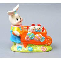 "Подставка керамическая для яиц ""Заяц"" 3157, размер 15х14 см, подставка для кухни, кухонная подставка для горячего, подставка для яиц"