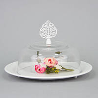 """Подставка металлическая для пирожных """"Sweets"""" CH415, размер 15х24 см, подставка для кухни, кухонная подставка для фруктов, подставка для пирожных"""
