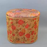 Бельевая корзина - пуф ZW8048-2, размер - 41*46*36 см, корзина для белья, бельевые корзины, плетеная корзина