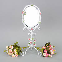 """Зеркало настольное для макияжа """"Flowers"""" CH959, материал металл, 44х16 см, зеркало для оформления интерьера, зеркало декоративное, зеркало в прихожую"""