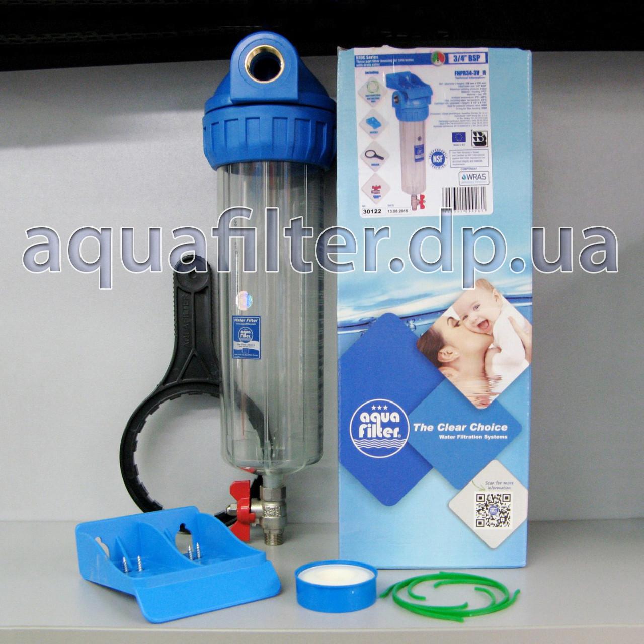"""Самопромывной фильтр для воды Aquafilter FHPR34-3V_R 10"""" 3/4"""