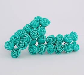 Розы из фоамирана на проволоке, диаметр 1,5 см