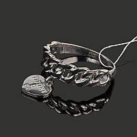 Серебряное родированное кольцо Тиффани, фото 1