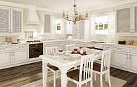 Белая кухня дерево