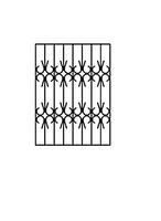 Дверная решетка сварная