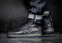 "Кроссовки Женские Nike Special Field(SF AF1)Air Force 1 Mid Black ""Tiger Camo"""