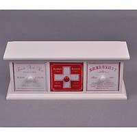 "Шкатулка деревянная для хранения медикаментов ""First Aid Kit"" FF042, размер 15x37x12 см, шкатулка для лекарств, домашняя аптечка, шкатулка из дерева"