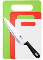 Набор разделочных досок 4 пр. с ножом Renberg RB-4454