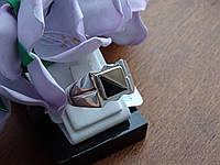 Печатка серебряная с золотой пластиной, фото 1