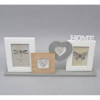 "Фоторамка настольная для фото ""Home"" PR1009, на 4 фото, дерево, рамка для фото, фото-рамка, рамка для фотографии"