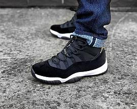 Баскетбольные кроссовки Nike Air Jordan 11 Heiress Black Velvet, фото 2