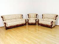 Комплект классической мягкой мебели диван+ 2 кресла Джокер Шик-Галичина