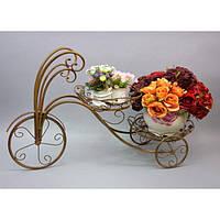 """Подставка под цветы """"Велосипед""""HX082, декор для сада, декорирование сада, аксессуары для сада"""