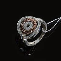 Кольцо Булгари серебро с позолотой Украина, фото 1
