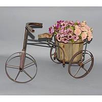 """Подставка под цветы """"Велосипед"""" FF2057, материал - дерево, металл, размеры - 38*57*21 см, декор для дома, декорирование дома, аксессуары для дома"""