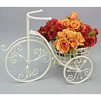 """Подставка под цветы """"Велосипед"""" HX9826, декор для сада, декорирование сада, аксессуары для сада"""