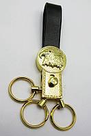 Брелок для ключей на кожаном ремешке Орел