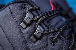 Баскетбольные кроссовки Nike Air Jordan 12 Retro Black Nylon, фото 3
