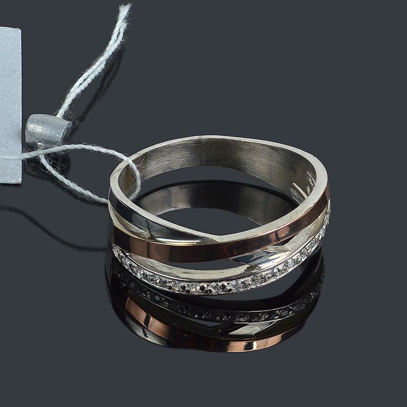 Серебряное женское кольцо с золотом Нежность