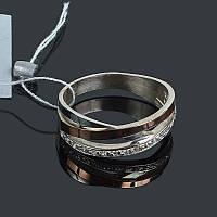 Серебряное женское кольцо с золотом Нежность, фото 1