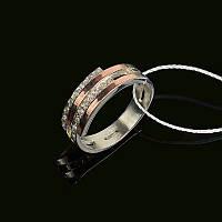 Серебряное кольцо Стюарт с золотыми накладками