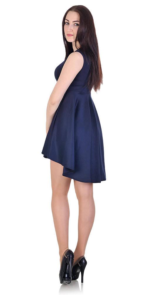 Платье-сарафан синее