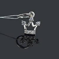 Серебряная подвеска (кулон) Коронка